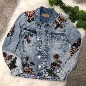 Blank NYC Jackets & Coats - BlankNYC | Embroidered Jean Jacket Beaded Birds